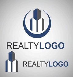 Realty logo 5 3 vector