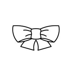 Ribbon bow thin line icon vector image vector image