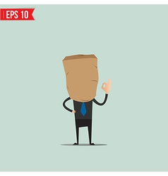 Cartoon business man with paper bag - - eps1 vector