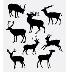 Deer animal silhouette vector image vector image
