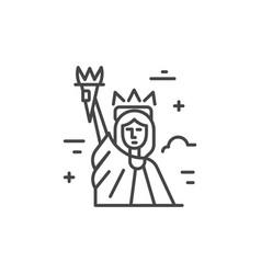 liberty city line icon vector image