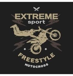 Motocross sport Free style vector image