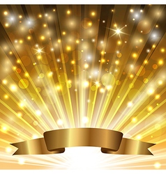 ribbon on gold vector image vector image