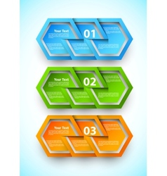 Set of numbered banners vector image vector image