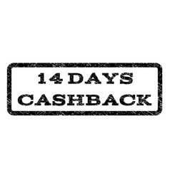 14 days cashback watermark stamp vector