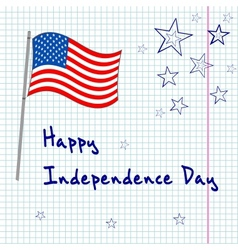 4th july greating card vector image