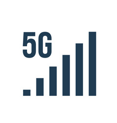 5g signal icon bars network mobile wireless 5g vector image