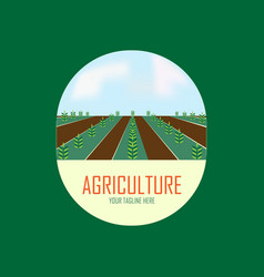 agriculture logo design with tree vector image