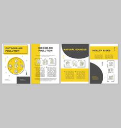 Air pollution brochure template vector