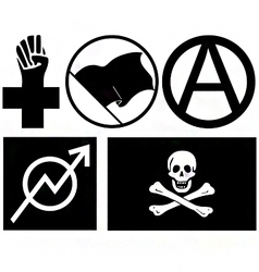 Anarchy signs and symbols vector