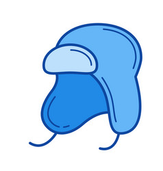 baby hat line icon vector image