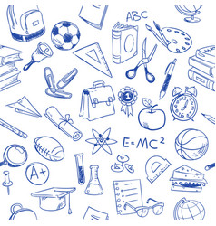 Back to school education doodles pencil vector