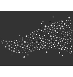 black glittering sparkle background vector image