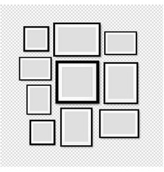 black picture frame isolated transparent vector image