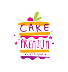 Cake premium original logo design label for vector