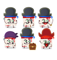 Cartoon character halloween calendar with vector