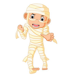 Cartoon egyptian mummy vector