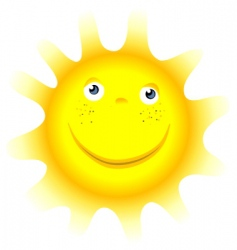 cartoon sun symbol face vector image