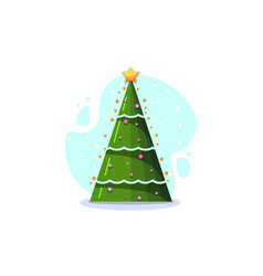christmas fir isolated vector image