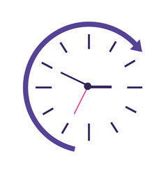 clock time speed vector image