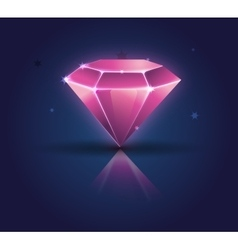Colorful shiny bright crystals diamond crystal vector image
