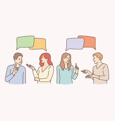 Communication talking chatting and discussion vector
