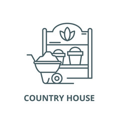 country house line icon linear concept vector image