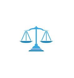creative abstract blue scales justice law logo vector image