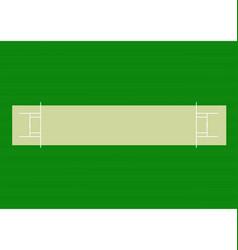 Cricket pitch vector