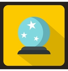 Crystal ball icon flat style vector