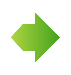 Double green arrow flat design long shadow color vector