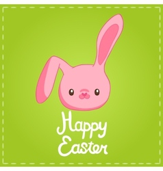 Easter background with cartoon cute bunny vector image