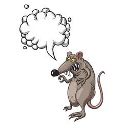 evil rat-100 vector image