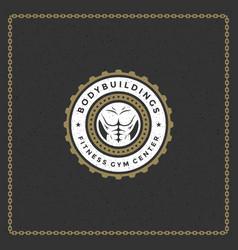 Fitness gym badge or emblem vector