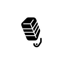 flat microphone record glyph icon symbol sign vector image