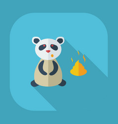 Flat modern design with shadow icons panda turd vector
