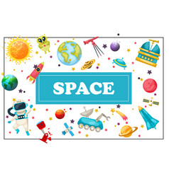 Flat space concept vector