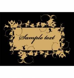 Floral label vector