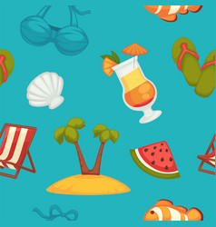 Great summer bright seamless pattern of holiday vector