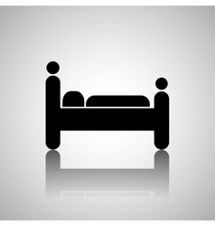 Hotel bed design vector