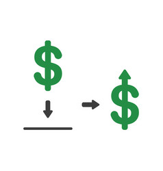 icon concept of dollar symbol inside moneybox vector image
