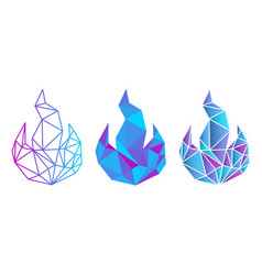Icy fire vector