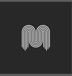 Initial letter m logo monogram black and white vector