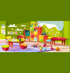 kindergarten room interior vector image
