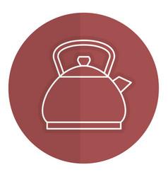 Kitchen teapot isolated icon vector