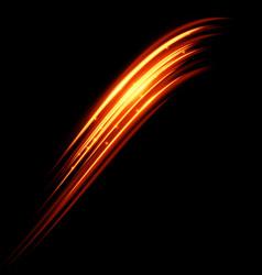 Magic glowing light swirl trail trace effect vector