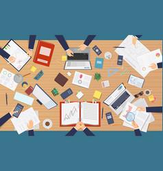 meeting top view businessmen professionals vector image