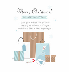 merry christmas and new year banner vector image