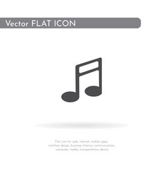 Music icon for web business finance and vector