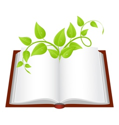 nature book vector image